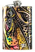 Stainless Steel Hip Flask - Estrada's Rainbow Trout Graffiti