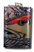 Stainless Steel Hip Flask - Estrada's Redfish 8oz