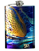 Stainless Steel Hip Flask - Maddox's Rise Series #5 (Salmonfly Snack)