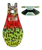 Tungsten Carbide Nippers - River Camo - Rainbow Trout