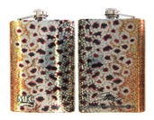 Stainless Steel Hip Flask - Sundell's Brown Trout Skin