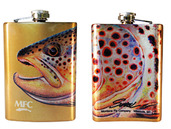Stainless Steel Hip Flask - Sundell's October Brown