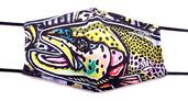 MFC PM2.5 Filter Facemask - Estrada's Rainbow Trout Graffiti