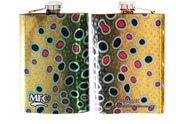 Stainless Steel Hip Flask - Maddox's Brown Trout XI Skin 8oz