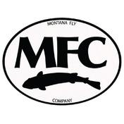 "MFC Logo Sticker -  Black & White Oval -5"""