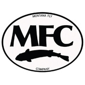MFC Logo Sticker -  Black & White Oval -5""