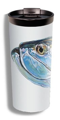 Vacuum Coffee Mug - Udesen's Tarpon Head (Over Silver) picture
