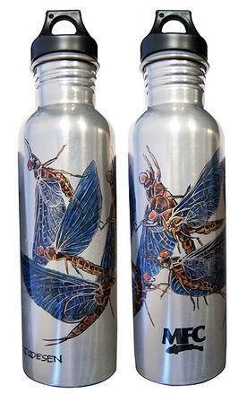 Water Bottle - Aluminum - Udesen's Mayflies picture