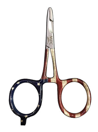 """Scissor Forceps - River Camo - 4"""" - American Pride picture"""