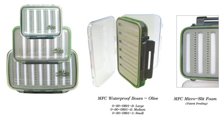 MFC Waterproof Fly Box - Olive - Small picture