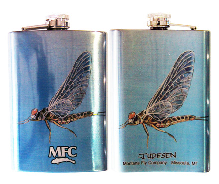 Stainless Steel Hip Flask - Udesen's Mayflies 8oz picture