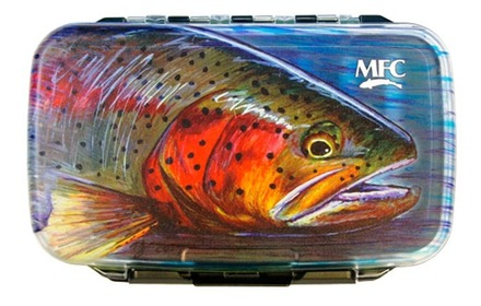 MFC Waterproof Fly Box - Hallock's Rainbow - Medium picture