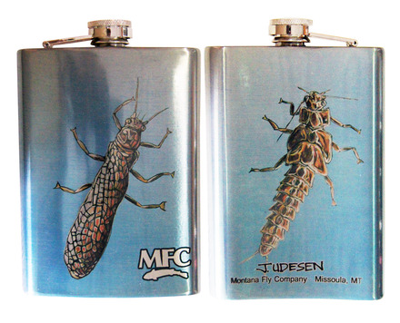 Stainless Steel Hip Flask - Udesen's Stoneflies 8oz picture