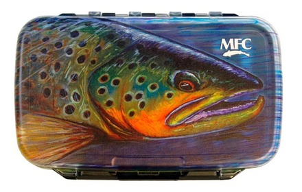 MFC Waterproof Fly Box - Hallock's Brown - Medium picture