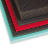 "Green/Fine Foam Sheet 12"" x 16"" x 5/8""  65 PPI"