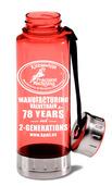 Custom BPA-Free Acrylic/ Stainless Steel Sport Bottle, Red, 23oz.