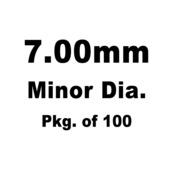 Lash Cap, HT Steel, 7.00mm Minor Dia.,Pkg. of 100