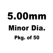 Lash Cap, HT Steel, 5.00mm Minor Dia., Pkg. of 50