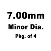 Lash Cap, HT Steel, 7.00mm Minor Dia.,Pkg. of 4