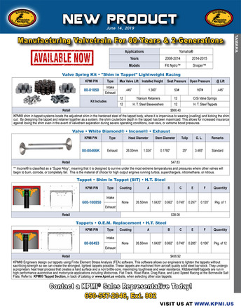 Flyer for Yamaha® Various 1049cc Triples 2008-2015 picture