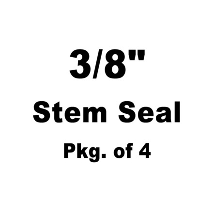 """Seal, Red Viton, 3/8"""" Stem x 0.562"""" Guide Seal Detail, Various Harley-Davidson® Applications (Pkg. of 4) picture"""