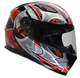 Vega Ultra Full Face Helmet (Red Shuriken, Large)
