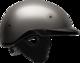 Rebel Warrior Matte Titanium Half Helmet L