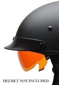 Warrior Half Helmet AMBER drop-down shield
