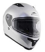 Stealth F117 Full Face Helmet with Quick Release strap in (silver, XLarge)
