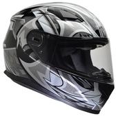 Vega Ultra Full Face Helmet (Black Shuriken, Medium)