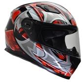 Vega Ultra Full Face Helmet (Red Shuriken, Large)