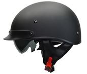 Rebel Warrior Matte Black Half Helmet L