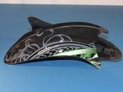 Vega Altura Full Face Helmet replacement top vents in the Green Slayer Graphic