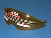 Vega/Stealth Insight/F117/VTS1 helmet replacement drop down shield in Amber