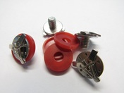Stealth Flyte Off Road Helmet Visor Screws with a Red Washer - 4 Piece set