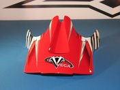 Vega Viper Off Road Helmet Replacement Visor in the Red Kraze Graphic