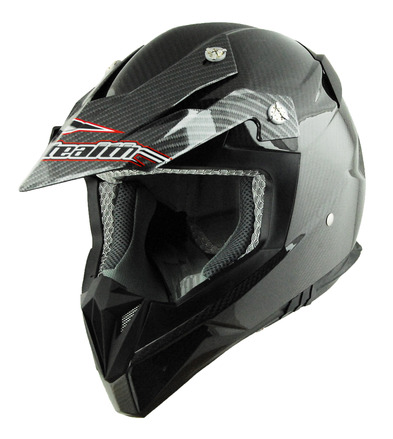 Stealth Flyte Off Road Helmet in Plain Carbon Fiber size XSmall picture