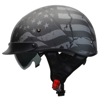 Rebel Warrior Patriotic Flag Half Helmet L