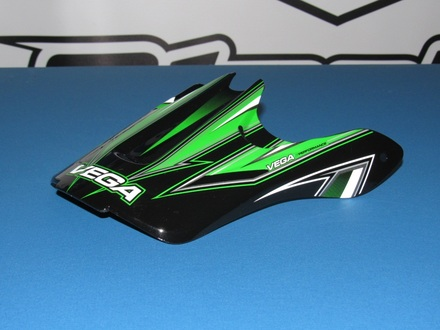 Vega Viper Jr. off road helmet replacement visor in the Green Edge graphic picture