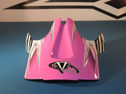 Vega Viper Off Road Helmet Replacement Visor in the Pink Kraze Graphic picture