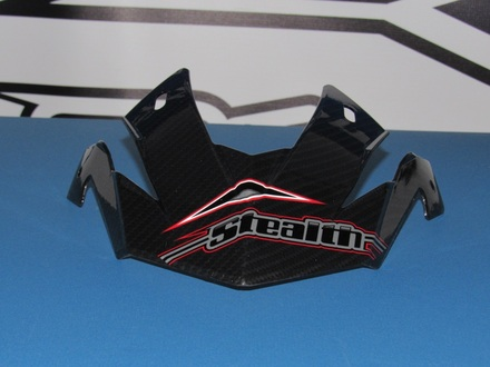 Stealth Flyte Off Road replacement Visor in Plain Carbon Fiber picture