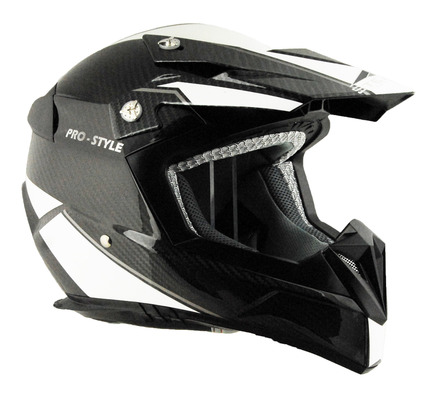 Stealth Flyte Carbon Fiber Off Road Helmet in the ProStyle graphic size Small picture