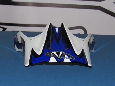 Vega Viper Off Road Helmet Replacement Visor in the Blue Volt Graphic picture