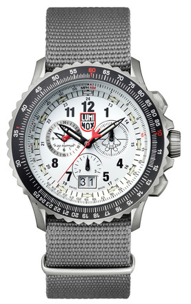 F-22 Raptor Flight Calculation Chronograph - Titanium - 9249 picture