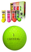 Rainbow Crystal Golf Balls (1 dozen)