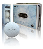 White Crystal Golf Balls (1 dozen)