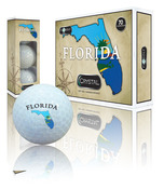FLORIDA LOGO ON WHITE BALL (1 dozen)
