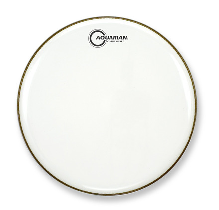 """18"""" Classic Clear Gloss White Bass Drumhead picture"""