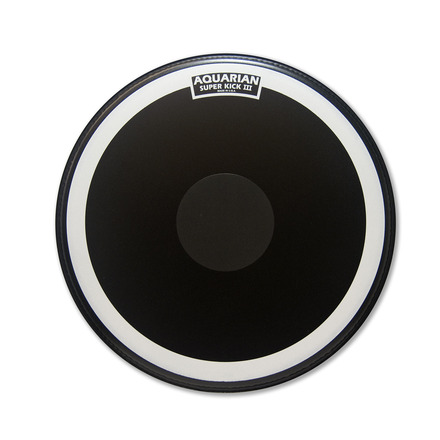 "22"" Superkick III Coated Black Single Ply picture"