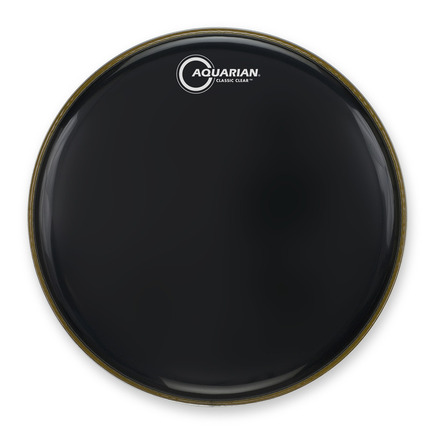 """18"""" Classic Clear Gloss Black Bass Drumhead picture"""